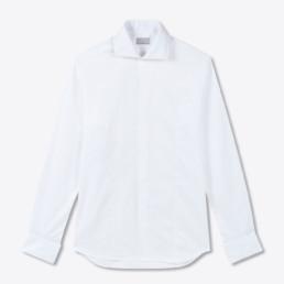 Chemise blanche col italien pour homme | Boutique LILAR Paris