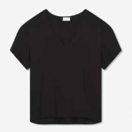Tee shirt habillé homme, grand col V - Boutique LILAR Paris