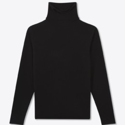 Pull col roulé cachemire noir -Boutique LILAR Paris