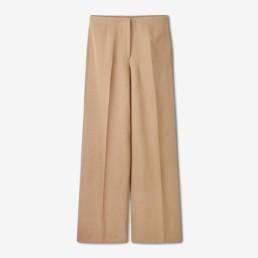 LILAR Paris – Pantalon large de tailleur beige femme