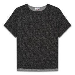 LILAR Paris - T-shirt moucheté bords dévorés homme