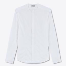 LILAR Paris - Chemise blanche sans col homme