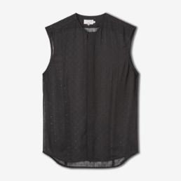 LILAR Paris - Chemise en mousseline noire homme