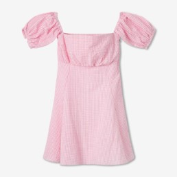 Mini robe en vichy rose - Boutique prêt-à-porter de luxe - LILAR Paris