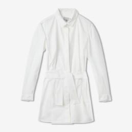Robe chemise courte blanche - Boutique prêt-à-porter de luxe - LILAR Paris