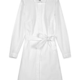 Robe chemise mi-longue blanche - Boutique prêt-à-porter de luxe - LILAR Paris