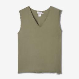 LILAR Paris - T-shirt kaki sans manches homme