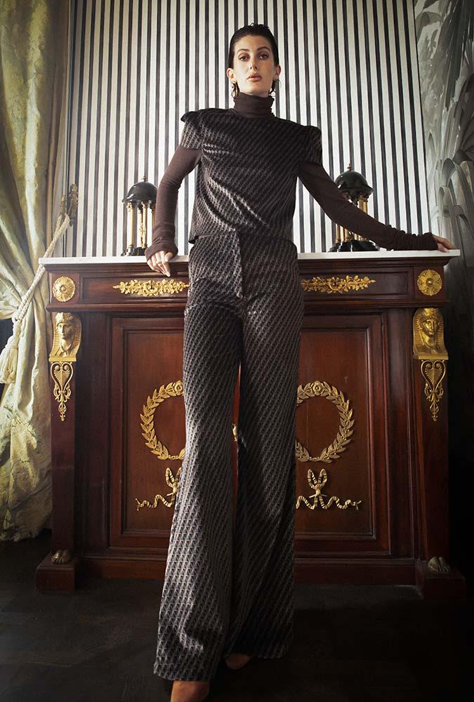Boutique prêt à porter de luxe pour femme à Paris LILAR - Pantalon en velours pour femme