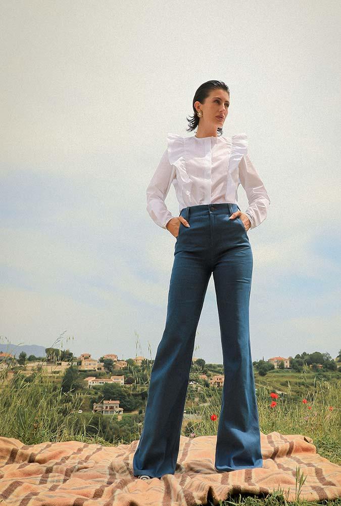 Boutique prêt à porter de luxe pour femme à Paris LILAR - Jeans pattes d'éléphant pour femme