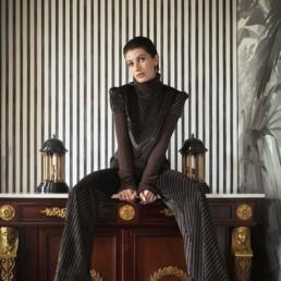Boutique prêt à porter de luxe pour femme à Paris LILAR - Top en velours pour femme